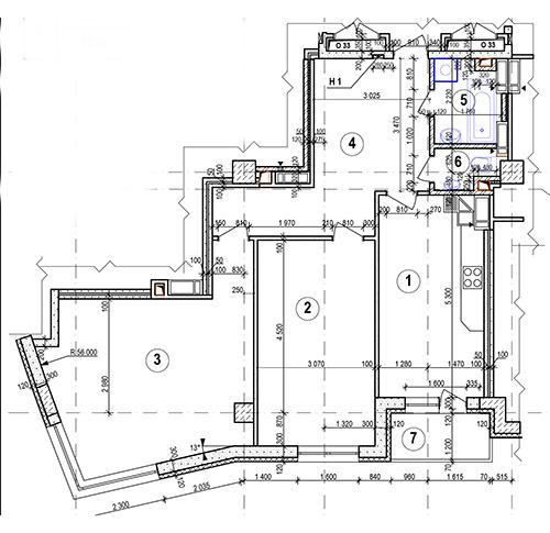 3 и 7 этаж