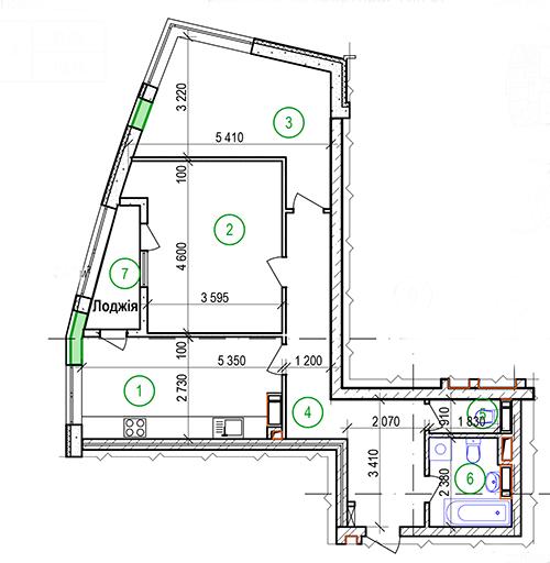 4,5,6,7 и 14 этаж